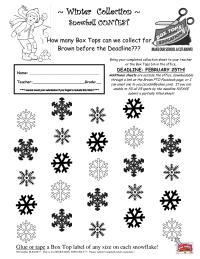 Snowflake 25 count Brown El