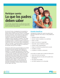 Involvement Matters: What Parents Should Know (Spanish)
