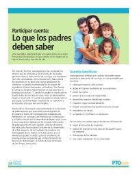 Participar cuenta: lo que los padres deben saber (artículo en español)
