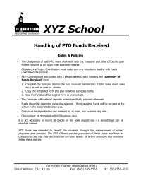 Policy Flyer: Handling of PTO Funds Received