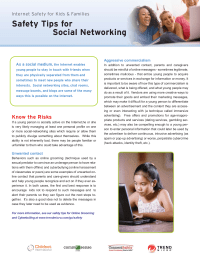 Social Networking Internet Safety Tips