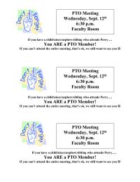 PTO Meeting Reminder