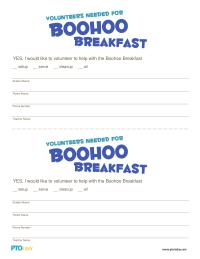 Boohoo Breakfast Volunteer Form
