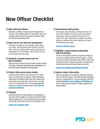 New Officer Checklist