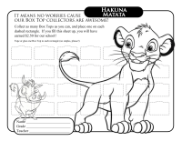 Lion King Collection Sheet