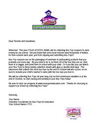 Box Tops Letter To Teachers