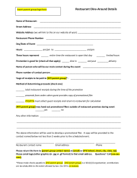 Restaurant Night Agreement