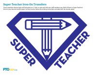 Superhero Teacher Appreciation Iron-On Transfers