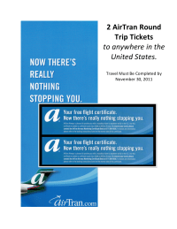 AirTran display tickets
