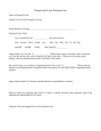 Program and Event Plan & Eval Form