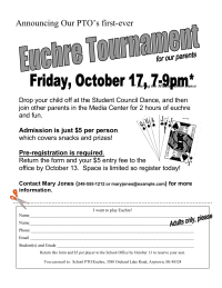 Euchre Night Flyer