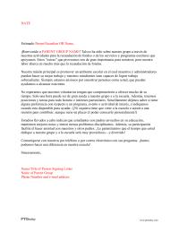 PTO Today: Parent Involvement Letter 2 (Spanish)