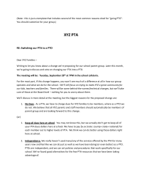 pta to pto switch letter for parents
