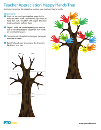 Happy Hands Tree for Teacher Appreciation