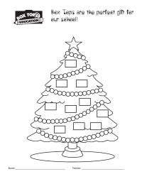 BTFE Christmas Tree Collection Sheet