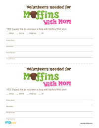 Muffins With Mom Volunteer Form