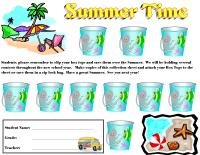 Summer Time Beach Collection Sheet