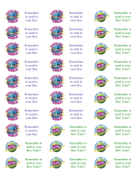 Stickers with note for students to wear home - 30 per page