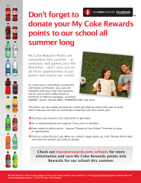 COKE REWARDS FOR SCHOOLS