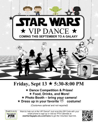 Star Wars Themed Dance (w/ Volunteer Opportunity) Flyer