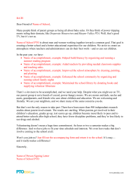 PTO Today: Parent Involvement Letter 1