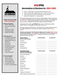 Officer Nomination Form (with job descriptions) - PTO Today