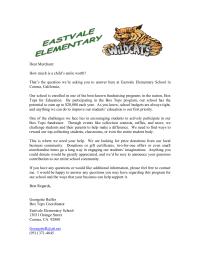 Merchant Donation Letter