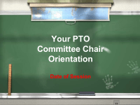 PTO Today: Committee Orientation PowerPoint