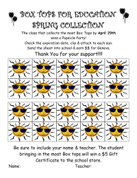 Box Tops Spring Collection Sheet