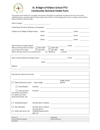 Community Outreach Intake Form