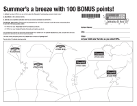 LFE Summer Bonus Sheet 100 pt. Aug. 30, 2013