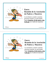PTO Today: Monthly Meeting Announcements (Spanish)