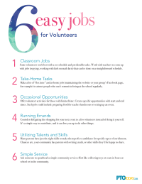 6 Easy Jobs for Volunteers