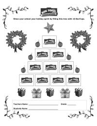 NEW Christmas Tree Collection Sheet 2008