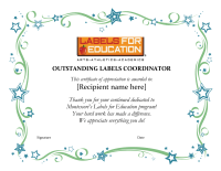 Outstanding Campbells Labels for Education Coordinator