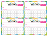 Color Run Lap Cards