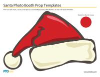 Santa Photo Booth Prop Templates