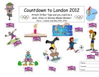 London Olympics Collection Sheet (10 count)