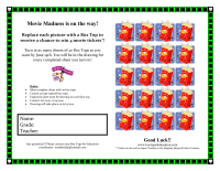 Movie Maddness collection sheet
