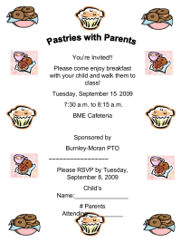 Pastries with Parents Flyer