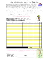 Reading Pledge Sheet 1