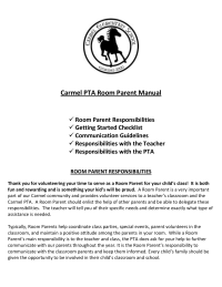 Room Parent Manual or Handbook