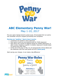 Penny War Flyer: Positive Pennies