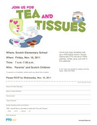 Tea and Tissues Invitation