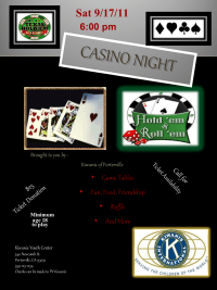 Casino Night Flier