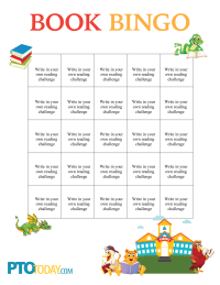 book bingo template pto today