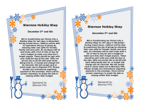 HOLIDAY SHOP FUNDRAISER