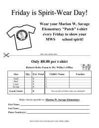 fundraising order form template