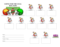 Going for the Goal- Box Tops