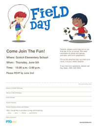 PTO Today: Field Day Volunteer Form/Flyer